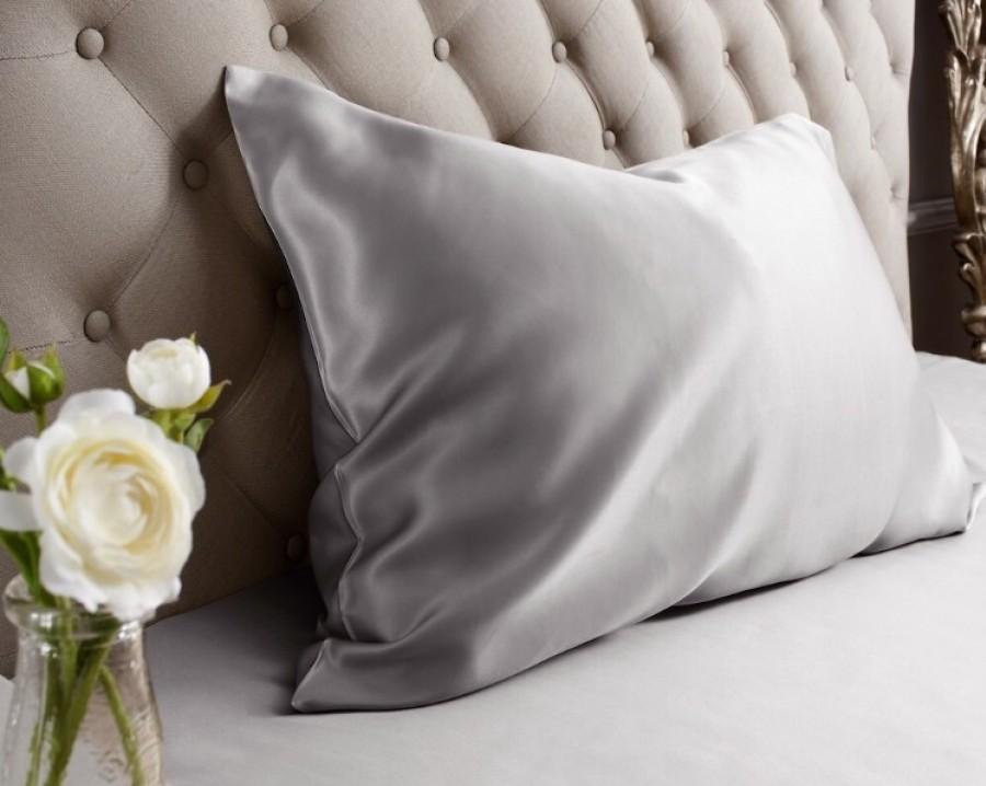 Šilkinis pagalvės užvalkalas pilkas